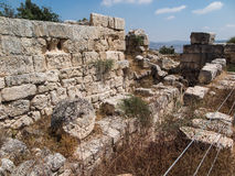 Sebastian, ancient Israel, ruins and excavations Royalty Free Stock Image