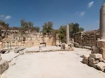Sebastian, ancient Israel, ruins and excavations Royalty Free Stock Photo