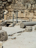 Sebastian, ancient Israel, ruins and excavations. In the Palestinian territories. Smaria. Entrance to the first tomb of St. John Stock Image