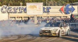 Sebastian Barbu- Sergiu Itu- Transylvania Rally 2014 Royalty Free Stock Image