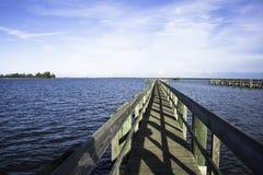 Sebastian Florida med blå himmel Arkivbild