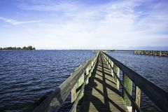Sebastian, Florida met Blauwe Hemel Stock Fotografie