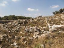 Sebastian, Israel antiguo, ruinas y excavaciones imagen de archivo libre de regalías