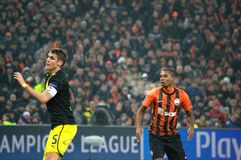 Sebastian Kehl and Fernandinho in action Royalty Free Stock Images