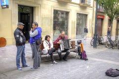 Sebastian Muzyk na ulicie Zdjęcie Royalty Free