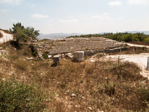 Sebastian, oud Israël, ruïnes en uitgravingen royalty-vrije stock afbeeldingen