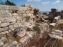 Sebastian, oud Israël, ruïnes en uitgravingen royalty-vrije stock afbeelding