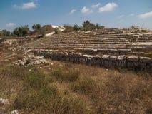 Sebastian, oud Israël, ruïnes en uitgravingen stock afbeeldingen
