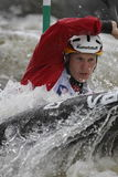 Sebastian Schubert in water slalom world cup race Stock Image