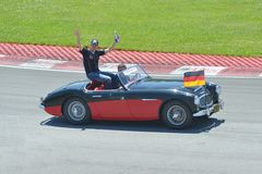 Sebastian Vettel in 2012 F1 kanadisches großartiges Prix Stockfotografie