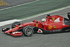 Sebastian Vettel Foto de archivo libre de regalías