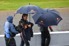 Sebastian Vettel au prix grand de Montréal Photographie stock libre de droits