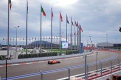 Sebastian Vettel av Scuderia Ferrari Formel en Sochi Ryssland Royaltyfri Foto
