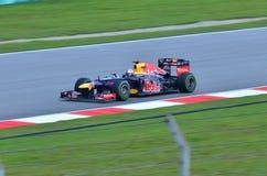 Sebastian Vettel, corsa di Red Bull della squadra Fotografie Stock Libere da Diritti