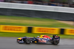 Sebastian Vettel emballant au prix grand de Montréal Photographie stock