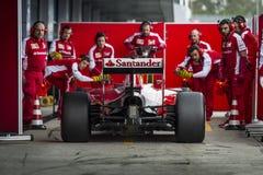 Sebastian Vettel Ferrari 2015 Obraz Stock