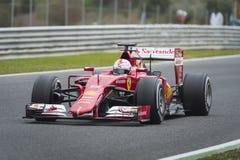 Sebastian Vettel Ferrari 2015 Zdjęcia Stock