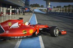 Sebastian Vettel Ferrari 2015 Fotografie Stock