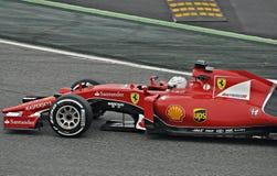 Sebastian vettel-Ferrari Imagenes de archivo