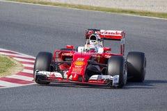Sebastian Vettel Ferrari 2016 Zdjęcia Stock