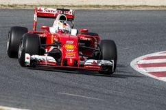 SEBASTIAN VETTEL (FERRARI) - F1 test Fotografia Stock