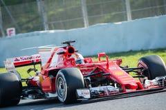 SEBASTIAN VETTEL FERRARI - F1 testa dni 2017 Zdjęcia Stock