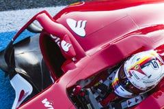 Sebastian Vettel Ferrari 2015 Royalty Free Stock Image