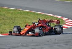 Sebastian vettel-Ferrari fotografia de stock royalty free