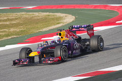 Formula 1 Red Bull RB9 - Sebastian Vettel Royalty Free Stock Photo