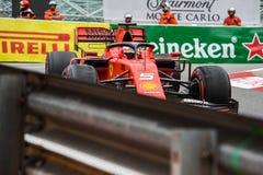 #5 Sebastian VETTEL GER, Ferrari, SF90 against the barriers in Monaco