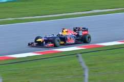 Sebastian Vettel, het Rennen van teamRed Bull Royalty-vrije Stock Foto's