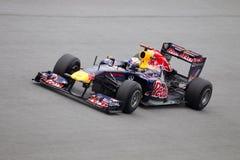 Sebastian Vettel at the high speed straight Stock Image