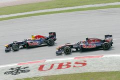 Sebastian Vettel and Mark Webber Stock Images