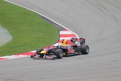 Sebastian Vettel nell'azione Fotografia Stock