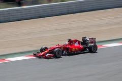 Sebastian Vettel på formeln 1 Barcelona Gran Prix 2015 Royaltyfri Fotografi