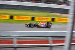 Sebastian Vettel que compite con en el prix magnífico de Montreal Fotos de archivo libres de regalías
