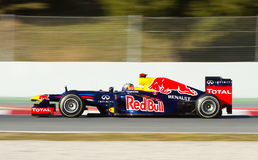Sebastian Vettel racing Royalty Free Stock Photos