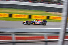 Sebastian Vettel racing at Montreal Grand prix Royalty Free Stock Photos