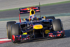 Sebastian Vettel of Red Bull F1 Stock Photography