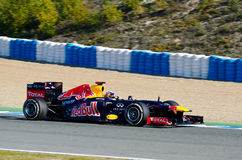 Sebastian Vettel of Red Bull Racing team Stock Images