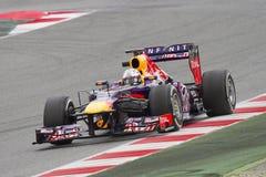 Sebastian Vettel Red Bull RB9 Fotografia Stock