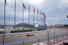 Sebastian Vettel Scuderia Феррари Формула-1 Сочи Россия Стоковое фото RF