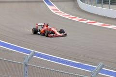 Sebastian Vettel Scuderia Ferrari Formuła Jeden Sochi Rosja Obraz Stock