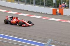 Sebastian Vettel of Scuderia Ferrari. Formula One. Sochi Russia Stock Photos