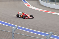 Sebastian Vettel of Scuderia Ferrari. Formula One. Sochi Russia Stock Image