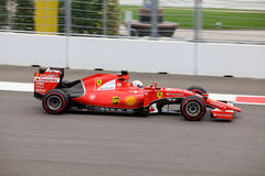 Sebastian Vettel of Scuderia Ferrari. Formula One. Sochi Russia Royalty Free Stock Photos