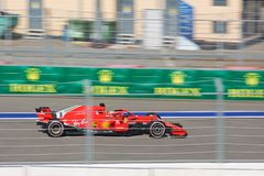 Sebastian Vettel of Scuderia Ferrari. Formula One. Sochi Russia. Sochi, Russia - September 30, 2018: Sebastian Vettel of Scuderia Ferrari F1 team racing at the stock images