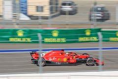 Sebastian Vettel of Scuderia Ferrari. Formula One. Sochi Russia. Sochi, Russia - September 30, 2018: Sebastian Vettel of Scuderia Ferrari F1 team racing at the stock photos