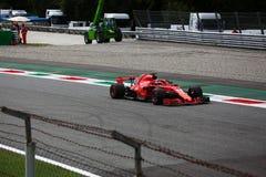 Sebastian Vettel w Monza F1 Uroczysty Prix 2018 zdjęcie stock