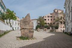 Sebastiano Satta Square. Nuoro (Sardinia - Italy) Stock Image